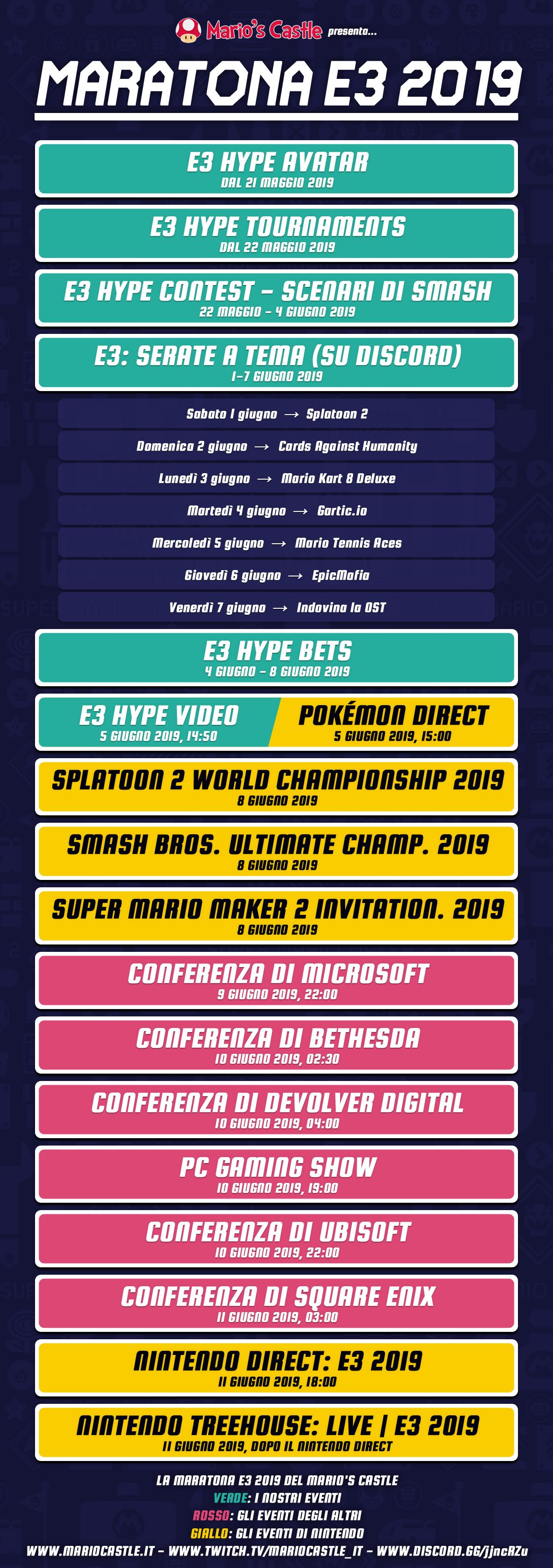 E3 Calendario.La Maratona E3 2019 Calendario Ed Eventi Mario S Castle