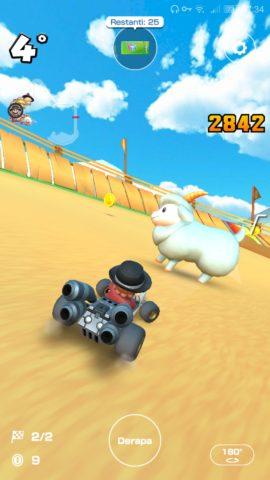 Una capra in Mario Kart Tour.