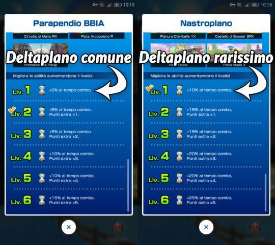 Differenza tra deltaplani di rarità diversa.